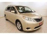 2011 Sandy Beach Metallic Toyota Sienna LE #73934903