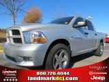 2012 Bright Silver Metallic Dodge Ram 1500 Express Crew Cab #73934517