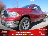 2012 Deep Cherry Red Crystal Pearl Dodge Ram 1500 Big Horn Quad Cab #73934515