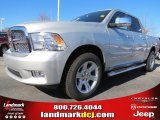 2012 Bright Silver Metallic Dodge Ram 1500 Laramie Limited Crew Cab #73934514