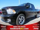 2012 Black Dodge Ram 1500 Express Quad Cab #73934511