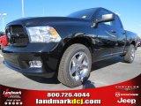 2012 Black Dodge Ram 1500 Express Quad Cab #73934506