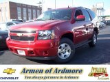 2013 Crystal Red Tintcoat Chevrolet Tahoe LS 4x4 #73934654