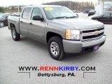2007 Graystone Metallic Chevrolet Silverado 1500 LS Crew Cab 4x4 #73934854