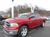 2009 Inferno Red Crystal Pearl Dodge Ram 1500 SLT Quad Cab 4x4 #73989315