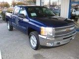 2013 Blue Topaz Metallic Chevrolet Silverado 1500 LT Crew Cab 4x4 #73989711