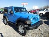 2012 Cosmos Blue Jeep Wrangler Sport 4x4 #73989509