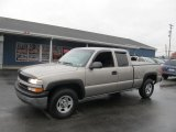 2002 Light Pewter Metallic Chevrolet Silverado 1500 Extended Cab 4x4 #73989685