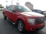 2010 Vermillion Red Ford F150 STX SuperCab #73989081