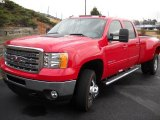 2013 Fire Red GMC Sierra 3500HD SLT Crew Cab 4x4 Dually #73989471
