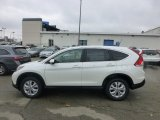 2013 White Diamond Pearl Honda CR-V EX AWD #73989535
