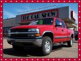 2001 Victory Red Chevrolet Silverado 1500 LS Extended Cab 4x4 #7397562