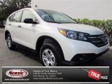 2013 White Diamond Pearl Honda CR-V LX AWD #74039303