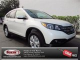 2013 White Diamond Pearl Honda CR-V EX-L #74039300