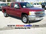 2013 Deep Ruby Metallic Chevrolet Silverado 1500 LS Extended Cab #74039877