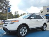 2013 White Platinum Tri-Coat Ford Explorer Limited #74039484