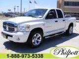 2007 Bright White Dodge Ram 1500 Laramie Quad Cab #7397894
