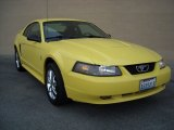 2003 Zinc Yellow Ford Mustang V6 Coupe #74039370