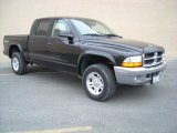 2003 Black Dodge Dakota SLT Quad Cab 4x4 #74039367