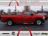 2010 Inferno Red Crystal Pearl Dodge Ram 1500 ST Regular Cab #74039345