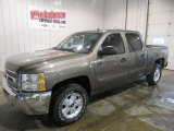 2013 Mocha Steel Metallic Chevrolet Silverado 1500 LT Crew Cab 4x4 #74096090
