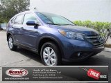 2013 Twilight Blue Metallic Honda CR-V EX-L #74095245