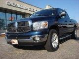 2008 Patriot Blue Pearl Dodge Ram 1500 Big Horn Edition Quad Cab 4x4 #74095317