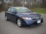 2007 Royal Blue Pearl Honda Civic LX Sedan #7390837