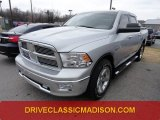 2010 Bright Silver Metallic Dodge Ram 1500 Big Horn Crew Cab 4x4 #74095807