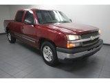 2005 Sport Red Metallic Chevrolet Silverado 1500 LS Crew Cab #74095685