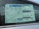2013 Ford Fusion SE 1.6 EcoBoost Window Sticker