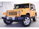 2012 Dozer Yellow Jeep Wrangler Sahara 4x4 #74095420