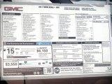 2013 GMC Yukon Denali AWD Window Sticker