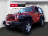 2012 Flame Red Jeep Wrangler Sport 4x4 #74095905