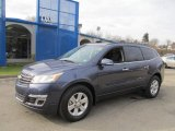 2013 Atlantis Blue Metallic Chevrolet Traverse LT AWD #74156933