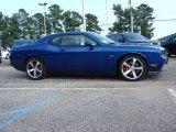 Blue Streak Pearl Dodge Challenger in 2012