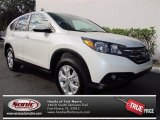 2013 White Diamond Pearl Honda CR-V EX AWD #74156657