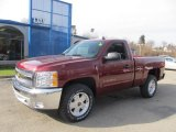 2013 Deep Ruby Metallic Chevrolet Silverado 1500 LT Regular Cab 4x4 #74156930