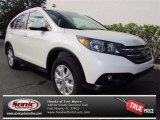 2013 White Diamond Pearl Honda CR-V EX-L #74156656