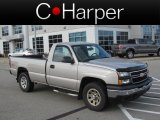 2006 Silver Birch Metallic Chevrolet Silverado 1500 Work Truck Regular Cab 4x4 #74156638