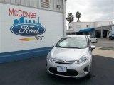 2013 Ingot Silver Ford Fiesta S Sedan #74156875