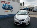 2013 Ingot Silver Ford Fiesta S Sedan #74156874