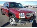 2004 Sport Red Metallic Chevrolet Silverado 1500 Z71 Crew Cab 4x4 #74217803