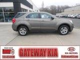 2010 Mocha Steel Metallic Chevrolet Equinox LS AWD #74217935