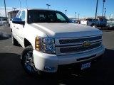 2013 White Diamond Tricoat Chevrolet Silverado 1500 LTZ Crew Cab 4x4 #74217791