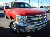 2012 Victory Red Chevrolet Silverado 1500 LT Crew Cab 4x4 #74217788