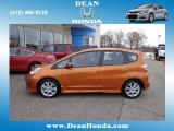 2011 Orange Revolution Metallic Honda Fit Sport #74217843