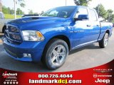 2011 Deep Water Blue Pearl Dodge Ram 1500 Sport Quad Cab #74247175