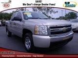 2008 Silver Birch Metallic Chevrolet Silverado 1500 LS Crew Cab #74247232
