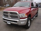 2010 Inferno Red Crystal Pearl Dodge Ram 3500 Big Horn Edition Mega Cab 4x4 #74247110